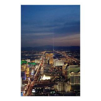 Las Vegas por la noche 2 Papelería De Diseño