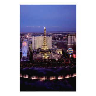 Las Vegas por la noche 3 Papeleria De Diseño