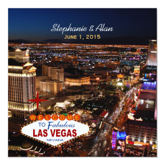 Las Vegas que casa el azul de la invitación