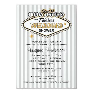 Las Vegas que casa la invitación de la ducha