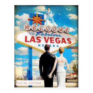 Las Vegas que casa la invitación Postal