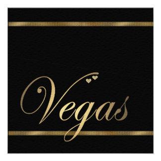 Las Vegas que casa la plantilla de la invitación