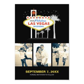 Las Vegas que casa la Reserva--fecha Invitación 12,7 X 17,8 Cm