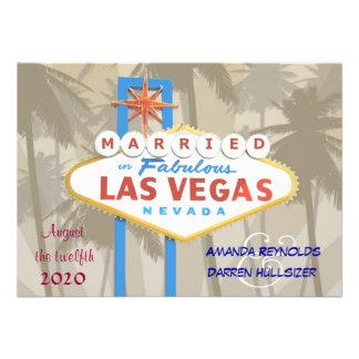 """Las Vegas que casa las invitaciones - 4,5"""" x 6,25"""" Anuncio"""