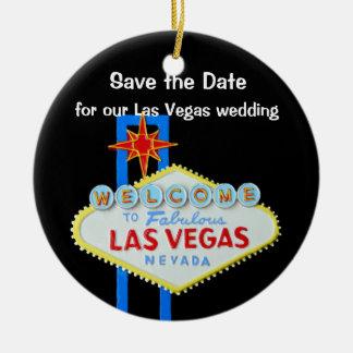 Las Vegas que casa reserva la fecha Adorno Redondo De Cerámica