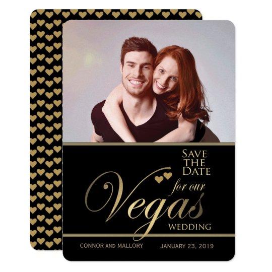 Las Vegas que casa reserva la plantilla de la Invitación 12,7 X 17,8 Cm