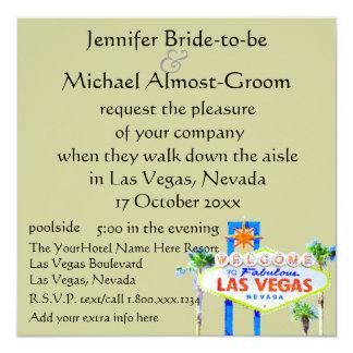 Las Vegas que casa verde salvia invita Invitación 13,3 Cm X 13,3cm