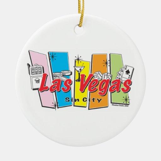 Las Vegas retro Sin City Ornamentos De Reyes