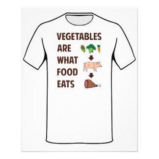 Las verduras son lo que come la comida folleto 11,4 x 14,2 cm