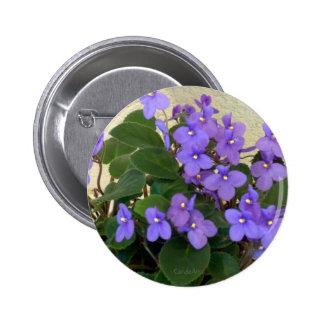 Las violetas azules más azules chapa redonda de 5 cm