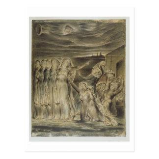 Las vírgenes sabias y absurdas, c.1822 (w/c y postal
