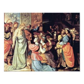 Las vírgenes sabias y absurdas de Cornelio Invitación 10,8 X 13,9 Cm