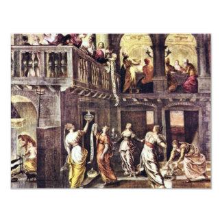 Las vírgenes sabias y absurdas de Tintoretto Jac Invitación 10,8 X 13,9 Cm