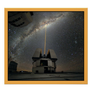 Laser de la astronomía hacia vías lácteas póster