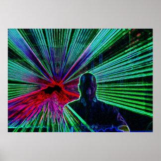 Lasers en DJ Posters