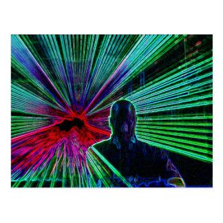 Lasers en la postal de DJ