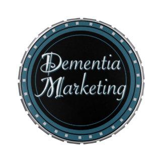 Lata del caramelo del márketing de la demencia jarrones de caramelos