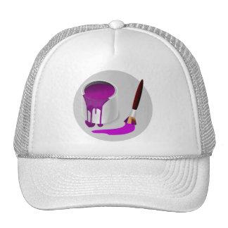 Lata del gorra púrpura de la pintura y del camione