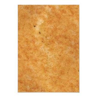 Lateral tostada del pan asado a la parrilla del invitación 8,9 x 12,7 cm