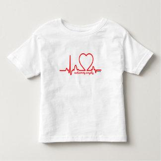 Latido del corazón 4t de la enfermedad cardíaca de camiseta de bebé