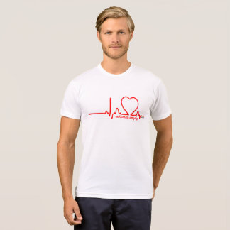 Latido del corazón 72 de la enfermedad cardíaca de camiseta