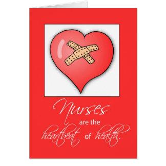 Latido del corazón del día de 3600 enfermeras tarjeta de felicitación
