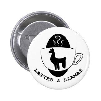 Lattes y botón del logotipo de las llamas