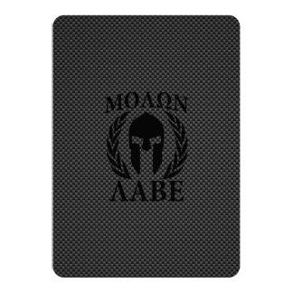 Laureles espartanos del guerrero de Molon Labe Invitación 12,7 X 17,8 Cm
