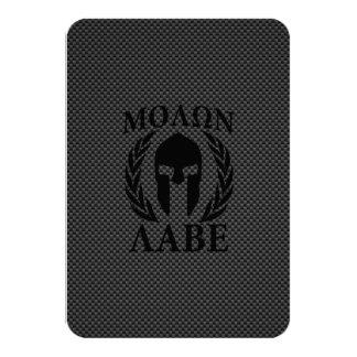 Laureles espartanos del guerrero de Molon Labe Invitación 8,9 X 12,7 Cm