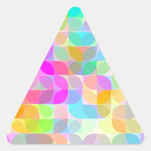 Laureles reconstruidos calcomanías trianguloes