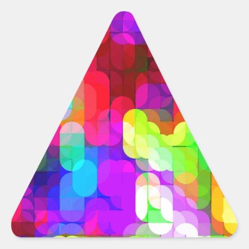 Laureles reconstruidos colcomanias de triangulo personalizadas