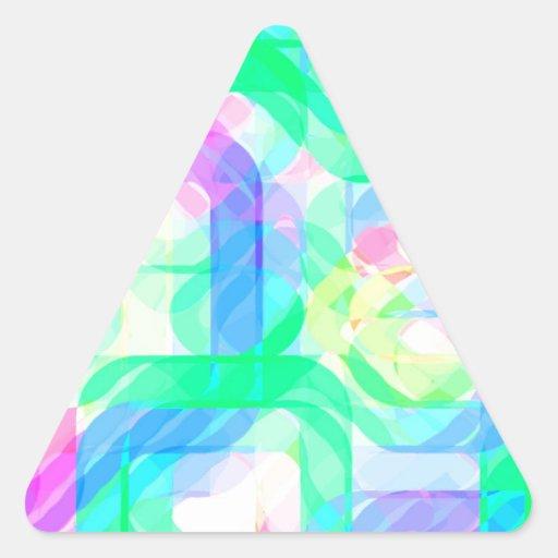 Laureles reconstruidos calcomanía de trianguladas