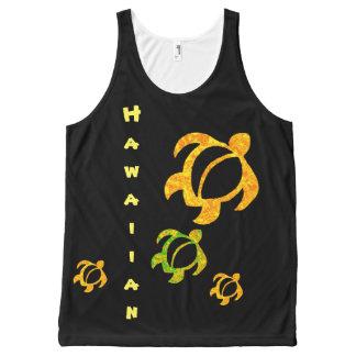 Lava de oro hawaiana Honu de LineA Camiseta De Tirantes Con Estampado Integral