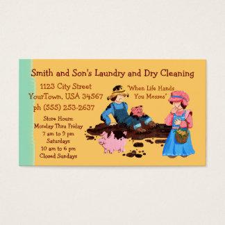 Lavadero y limpieza en seco tarjeta de visita