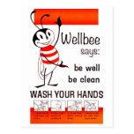 LAVADO de la CDC de Wellbee SU poster del anuncio  Tarjetas Postales