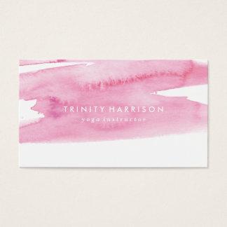Lavado rosado moderno de la acuarela tarjeta de negocios