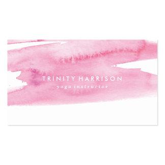 Lavado rosado moderno de la acuarela tarjetas de visita