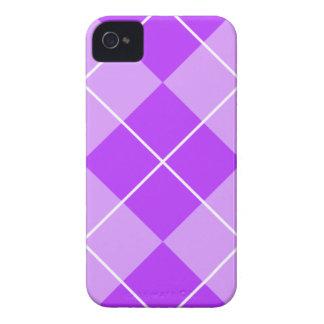 Lavanda Argyle de la lila iPhone 4 Case-Mate Cárcasa