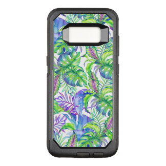 Lavanda azulverde del follaje del rosa tropical funda otterbox commuter para samsung galaxy s8