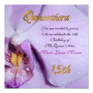 Lavanda de la orquídea de la invitación de
