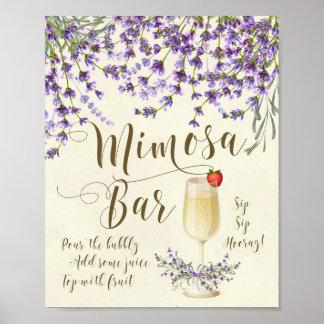 Lavanda de la púrpura de la lila de la muestra del póster