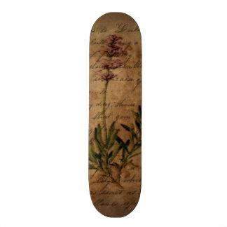 Lavanda del vintage en el papel de escribir apenad patines personalizados