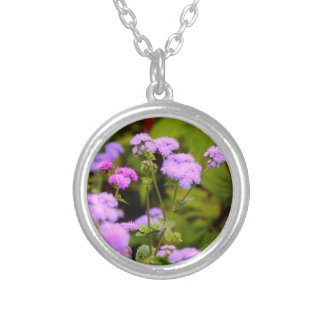 Lavanda hermosa y collar rosado del Wildflower