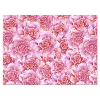 Lavanda rosada de los Succulents floral Papel De Seda