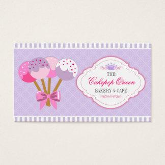 Lavanda y fucsia de la panadería de la reina de tarjeta de negocios