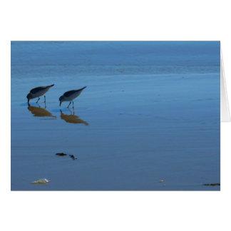 Lavanderas de la playa del canto tarjeta