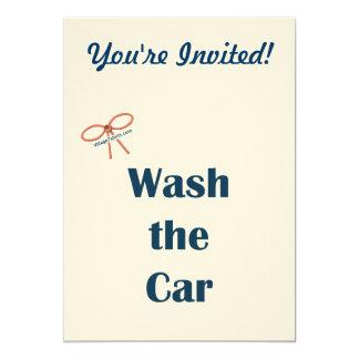 Lave los recordatorios del coche invitaciones personales