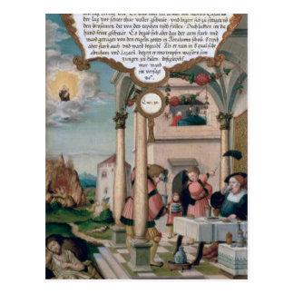 Lazarus y la tabla del hombre rico postal