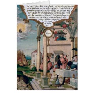 Lazarus y la tabla del hombre rico tarjeta de felicitación