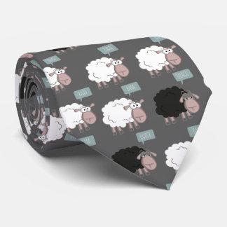 Lazo agujereado de las ovejas corbatas personalizadas